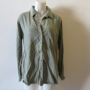 "NWT LAUREN MOSHI ""LOVE (RED ROSE)"" GREEN SHIRT L*"